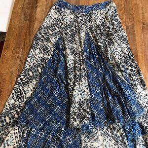 Free People maxi skirt with high/low hem